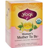 Yogi Organic Woman's Mother To Be Herbal Tea Caffeine Free - 16 Tea Bags - Case of 6