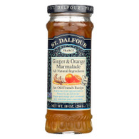 St Dalfour Fruit Spread - Deluxe - 100 Percent Fruit - Ginger and Orange Marmalade - 10 oz - Case of 6