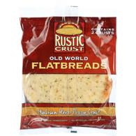 Rustic Crust Pizza Crust - Flatbreads - Italian Herb - 2 pack - 9 oz - case of 12