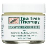 Tea Tree Therapy Eucalyptus Chest Rub Eucalyptus Australiana Lavender Peppermint and Tea Tree Oil - 2 oz