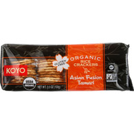 Koyo Rice Crackers - Organic - Asian Sesame Tamari - 3.5 oz - case of 12