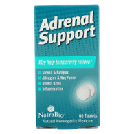 NatraBio Adrenal Support - 60 Tablets