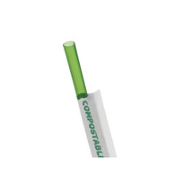 Eco-Products 7.75 inch Green Wrapped Straw - Case of 9600