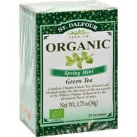 St Dalfour Organic Spring Mint Green Tea - 25 Tea Bags