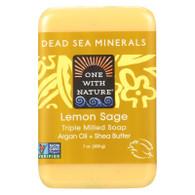 One With Nature Dead Sea Mineral Lemon Verbena Soap - 7 oz