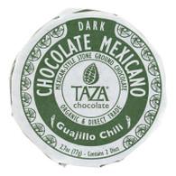 Taza Chocolate Organic Chocolate Mexicano Discs - 50 Percent Dark Chocolate - Guajillo Chili - 2.7 oz - Case of 12
