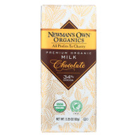 Newman's Own Organics Chocolate Bar - Organic - Milk Chocolate - 3.25 oz Bars - Case of 12
