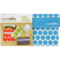 Lunchskins Snack Bag - Aqua Dot
