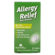 NatraBio Allergy Relief Non-Drowsy - 60 Tablets