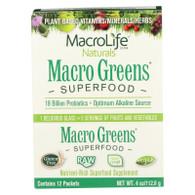 MacroLife Naturals Macro Greens Original - 12 Packets - 4 oz