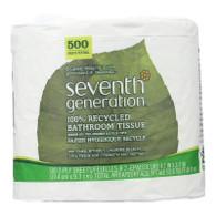 Seventh Generation Bathroom Tissue - 2 ply 500 sheet roll - Case of 60