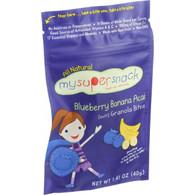 Mysupersnack Soft Granola Bites - Blueberry Banana Acai - 1.41 oz - Case of 6
