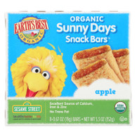 Earth's Best Sunny Days Apple Snack Bars - Case of 6 - 5.3 oz
