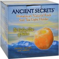 Ancient Secrets Himalayan Natural Rock Salt Tea Light Holder - Medium - 1 Holder
