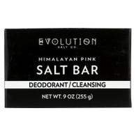 Evolution Salt Crystal Salt Bar - Deodorant Cleansing - 9 oz