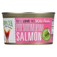 Natural Sea Salmon - Premium Pink - Wild Alaska - Salted - 7.5 oz - case of 12