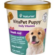 NaturVet Vitapet - Plus Breath Aid - Dog - Puppy - Cup - 70 Soft Chews