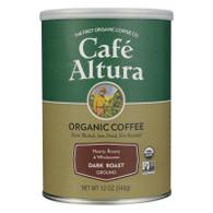 Cafe Altura Organic Ground Coffee - Dark Roast - Case of 6 - 12 oz.