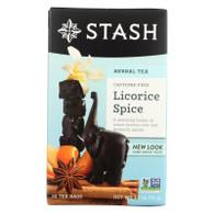 Stash Tea Company Premium Licorice Spice Herbal Tea - Caffeine Free - Case of 6 - 20 Bags