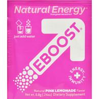 Eboost Natural Powder - Pink Lemonade - Case of 20 - .24 oz