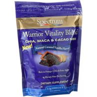 Spectrum Essentials Chia Maca and Cacao Nibs - Warrior Vitality Blend - Natural Caramel Vanilla Flavor - 10 oz