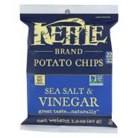 Kettle Brand Potato Chips - Sea Salt and Vinegar - 1.5 oz - case of 24