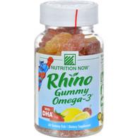 Nutrition Now Rhino Gummy Omega-3 with DHA Lemonade, Cherryade and Strawberry Lemonade - 60 Gummies