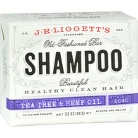 J.R. Liggett's Old-Fashioned Bar Shampoo Tea Tree and Hemp Oil Formula - 3.5 oz