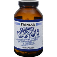 Twinlab CellMins Potassium and Magnesium - 180 Capsules