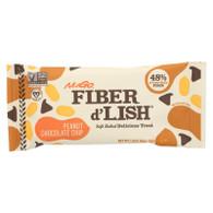 NuGo Nutrition Bar - Fiber dLish - Peanut Chocolate Chip - 1.6 oz Bars - Case of 16