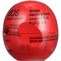 EOS Products Lip Balm - Organic - Smooth Sphere - Summer Fruit - .25 oz - case of 8
