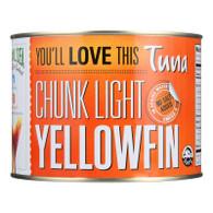 Natural Sea Tuna - Yellowfin - Chunck Light - No Salt Added - 66.5 oz - case of 6