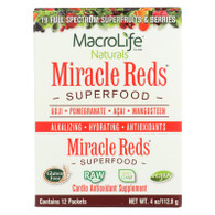 MacroLife Naturals Miracle Reds Antioxidant Super Food - 12 Packets of .33 oz