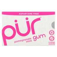 Pur Gum - Pomegranate Mint - Aspartame Free - 9 Pieces - 12.6 g - Case of 12