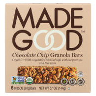 Made Good Granola Bar - Chocolate Chip - Case of 6 - 5 oz.