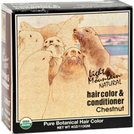 Light Mountain Natural Hair Color and Conditioner Chestnut - 4 fl oz