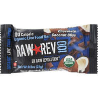 Raw Revolution Bar - Organic Chocolate and Coconut - Case of 20 - .8 oz