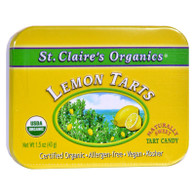 St Claire's Organic Lemon Tarts Display Case - Case of 6 - 1.5 oz