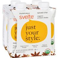 Svelte Protein Shake - Organic - Spiced Chai - 11 fl oz - Case of 24
