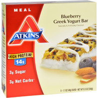 Atkins Advantage Bar - Blueberry Greek Yogurt - 5 ct - 1.7 oz - 1 Case