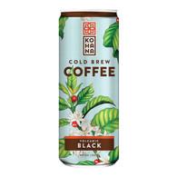 Kohana Cold Brew Coffee Beverage - Volcanic Black - Case of 12 - 8 Fl oz.