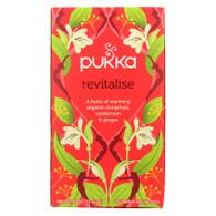 Pukka Herbal Teas Revitalize Organic Cinnamon Cardamom and Ginger Tea - Case of 6 - 20 Bags