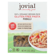 Jovial Pasta - Organic - Brown Rice - Fusilli - 12 oz - case of 12