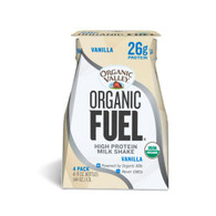 Organic Valley Fuel Milk Protien Shake - Vanilla - Case of 3 - 4/11oz Bottle
