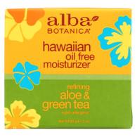 Alba Botanica Hawaiian Aloe and Green Tea Moisturizer Oil-Free - 3 oz