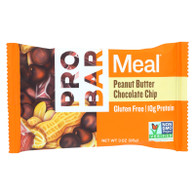 Probar Organic Peanut Butter Chocolate Chip Bar - Case of 12 - 3 oz