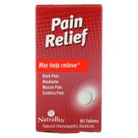NatraBio Pain Relief - 60 Tablets