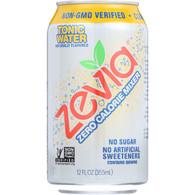 Zevia Soda - Zero Calorie - Tonic Water - 6/12 oz - case of 4