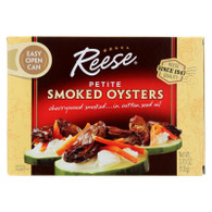 Reese Oysters - Smoked - Petite - 3.7 oz - Case of 10