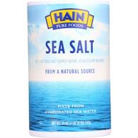 Hain Sea Salt - Plain - 26 oz - case of 24